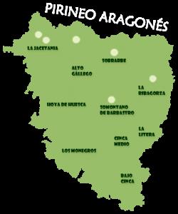 Mapa De Huesca Pirineos.Pirineo De Huesca